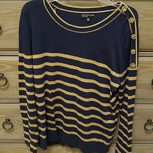 Navy & Gold Sweater